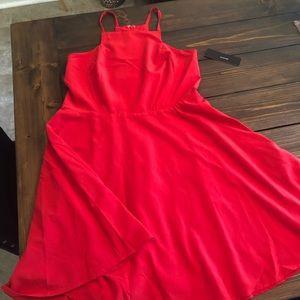 Lulus NWT Red Skater Dress